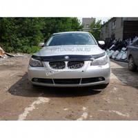 Дефлектор капота мухобойка VIP без значка для BMW 5 серии (60 кузов) с 2003 г.в.