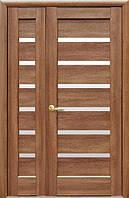 Полуторная (двустворчатая) межкомнатная дверь  НОСТРА ЛИННЕЯ, ПВХ DeLuxe