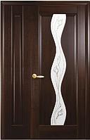 Полуторная (двустворчатая) межкомнатная дверь МАЭСТРА ВОЛНА, ПВХ DeLuxe