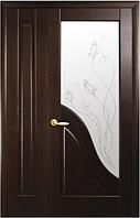 Полуторная (двустворчатая) межкомнатная дверь МАЭСТРА АМАТА, ПВХ DeLuxe