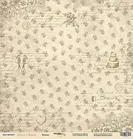 Лист односторонней бумаги 30x30 от Scrapmir Винтаж из коллекции Наша Свадьба