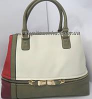Женская сумка сконтрастными вставками бренд Batty