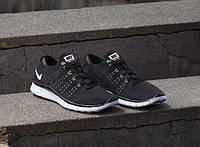 Мужские кроссовки NIke Free Run Flyknit NSW 'Anthracite'