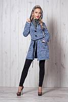 Молодежное пальто-кардиган на пуговицах размеры 42-44,46,48-50