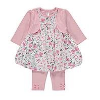 Комплект для девочки 12-18-24 мес: Платье с длинным рукавом, леггинсы Disney Bambi George (Англия), фото 1