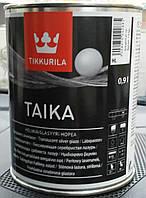 Лазурь TAIKA silver для стен одноцветная серебристая Tikkurila, 0.9л