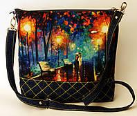 Женская стеганная сумочка Двое на алее
