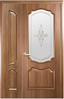 Полуторная (двустворчатая) межкомнатная дверь ИНТЕРА РОКА, ПВХ DeLuxe