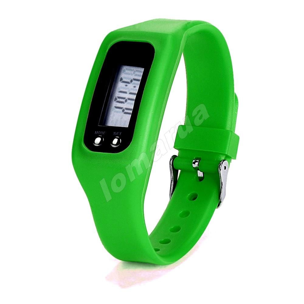 Фитнес браслет часы шагомер счетчик калорий  Green