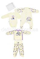 Комплект для новорожденной девочки: набор из 4-х вещей в подарочной коробке