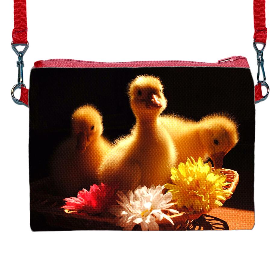 Детская сумочка для девочки с принтом Цыплята