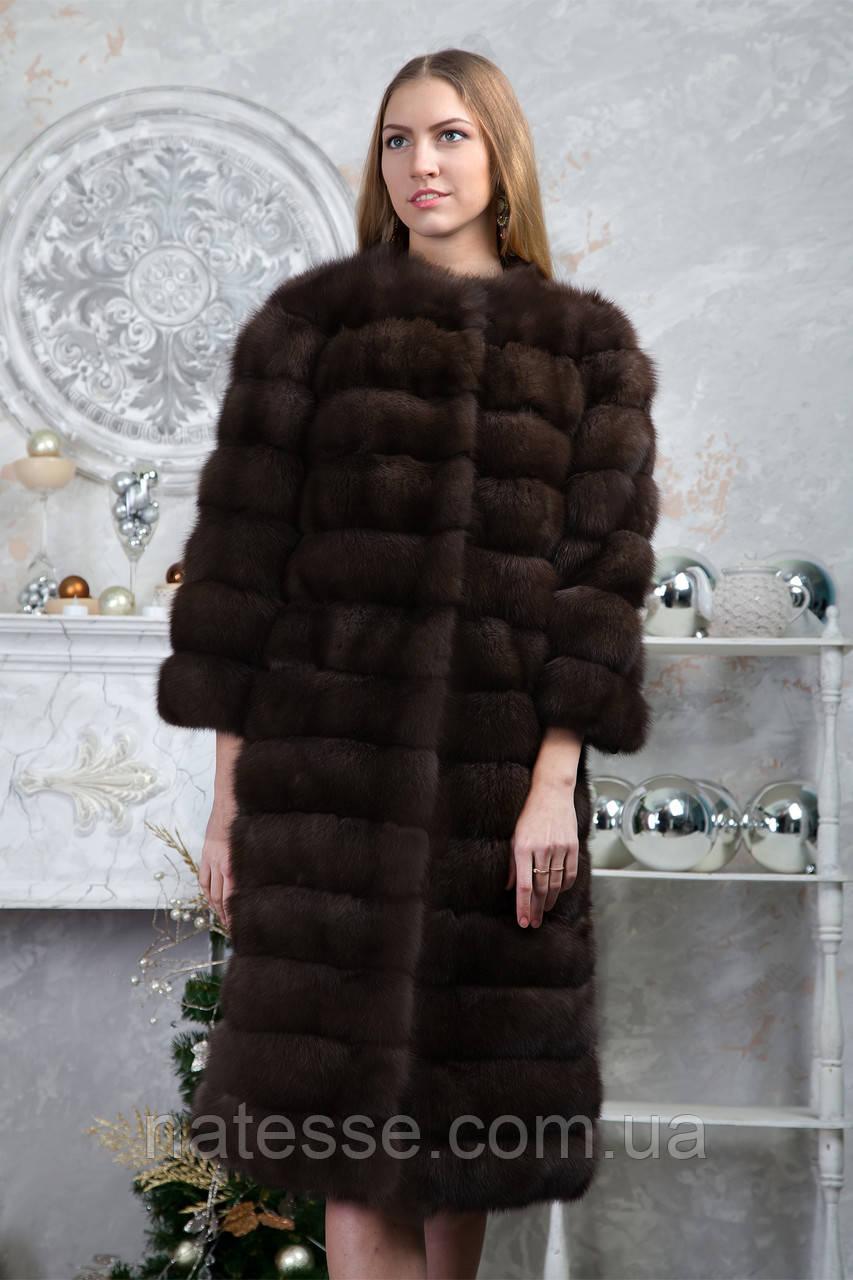 """Шуба из баргузинского соболя """"Мистика"""" sable jacket fur coat"""