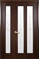 Полуторная (двустворчатая) межкомнатная дверь ИНТЕРА СТЕЛЛА, ПВХ DeLuxe