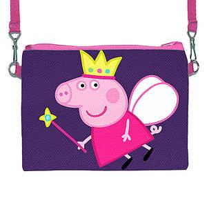Детская сумочка для девочки с принтом Свинка Пепа
