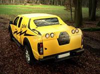Крышка на кузов грандбокс со стопами Afcar Турция для Nissan Navara D40 2005-2015 Под покраску