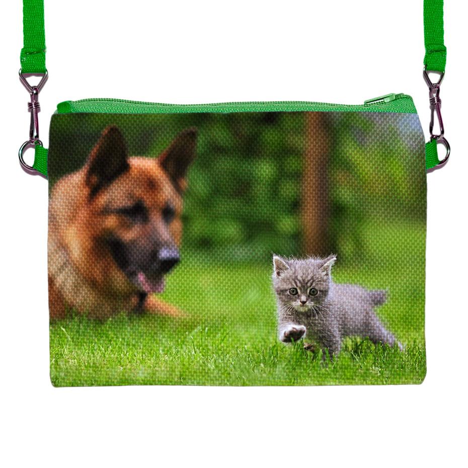 372d29138f97 Детская сумочка для девочки с принтом Кошка с собакой, цена 100 грн., купить  в Хмельницком — Prom.ua (ID#434089392)