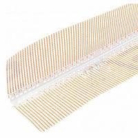 Уголок пластиковый капельный с сеткой 6.32 см 2,5 м.