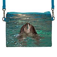 Детская сумочка для девочки с принтом Дельфины
