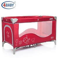 Манеж-кровать 4baby Royal New (Red) красный