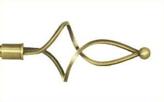 Декоративный наконечник Ажур волнистый для кованого карниза 16 мм.