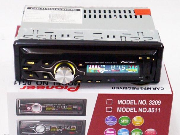 Автомагнитола 8511 USB флешка мульти подсветка AUX FM