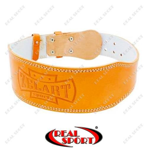 Пояс атлетический кожаный на пряжке Zelart ZB-01016-4