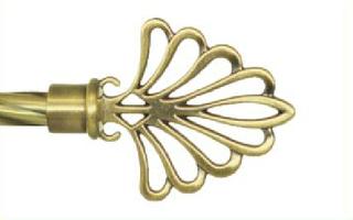 Декоративный наконечник Модерн для кованого карниза 16 мм.