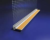 Профиль ПВХ оконный с сеткой ширина 9мм корытко 6мм с уплотнителем 2,5м