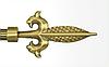 Декоративный наконечник Генуя для кованого карниза 16 мм.