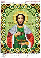 Схема для вышивания бисером Икона Святой князь Александр Невский