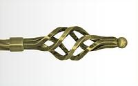 Декоративный наконечник Ажур малый для кованого карниза 16 мм.