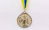 Медаль спортивная с лентой Бокс d-5см C-4337-2 место 2-серебро (металл, d-5см, 28g)