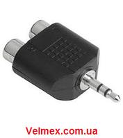 Переходник с джек 3,5 стерео на RCA (тюльпан) BIG 3,5mm stereo to RCA