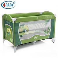 Детский манеж-кровать 4baby Vegas 2 уровня (Green)