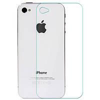 Заднее защитное закаленное стекло для iPhone 4, 4s (бронестекло на заднюю поверхность айфон)