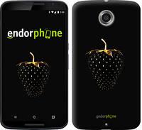 """Чехол на Motorola Nexus 6 Черная клубника """"3585c-67"""""""