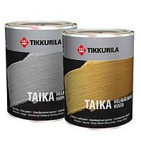Краска TAIKA silver Tikkurila серебристая для декора, 0.9л