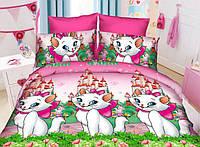 Полуторный детский комплект постельного белья (рисунок Кошечка Мари новая)