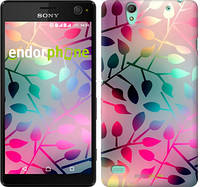 "Чехол на Sony Xperia C4 Листья ""2235u-295"""