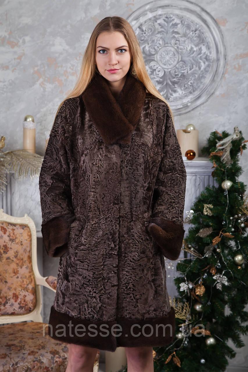 "Шуба из каракульчи ""Милисента"" swakara broadtail jacket fur coat"
