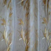 Тюль муар золотые листья, фото 1