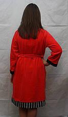 Велюровый халат с длинным рукавом, фото 3