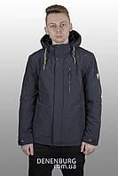 Куртка мужская демисезонная INDACO ITC-330 тёмно-синяя, фото 1