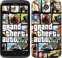 """Чехол на HTC One X GTA 5. Collage """"630c-42"""""""