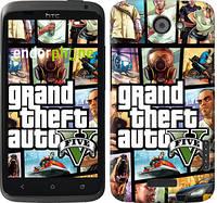 """Чехол на HTC One X+ GTA 5. Collage """"630c-69"""""""