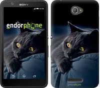 """Чехол на Sony Xperia E4 Dual Дымчатый кот """"825c-87"""""""