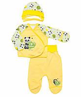 Комплект для новорожденного с начесом унисекс 36 (56см), Желтый
