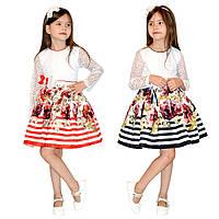 Модное детское платье с пышной юбкой
