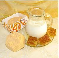 """""""Молоко и мёд"""" натуральное подарочное мыло ручной работы"""
