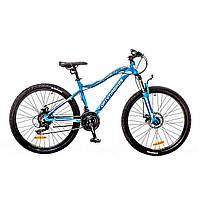 "Велосипед 26"" Optimabikes ALPINA AM 14G DD Al голубо-белый"
